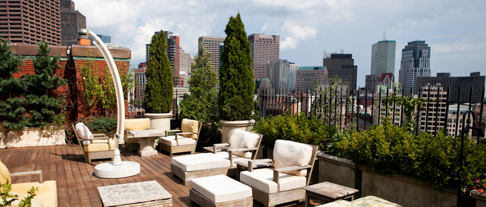 Downtown Boston roof terrace